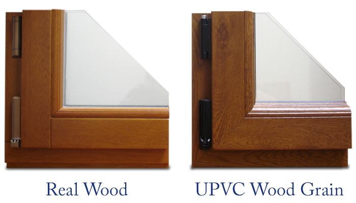 Timber and UPVC Wood Grain Window Comparison